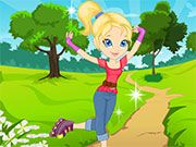 Free Online Girl Games, Get ready for a fun day in the park as you go roller skating!  In Cutie on Roller Skates, you'll have to help a friend pick out a nice looking outfit for a day in the sun!, #dressup #girl