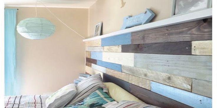 CABECERO DE CAMA QUE TAPIZA LA PARED , Otra de las creativas formas de tener un cabecero de cama de lo más original