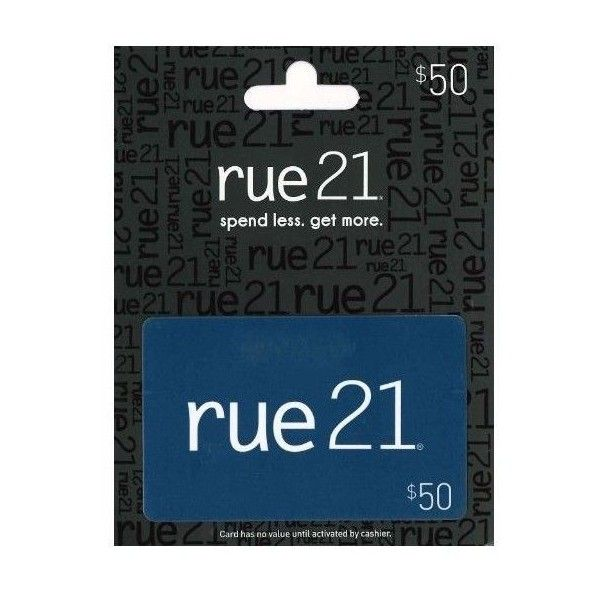 (26) Rue 21 Gift Card ($50) found on Polyvore | gift cards | Pinterest ❤ liked on Polyvore featuring fillers and gift cards