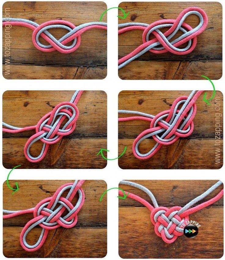 Cómo hacer un collar de nudos celtas con cordones. Hoy os presentamos los nudos celtas que son del arte celta. Son con forma muy característica. Cada forma