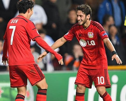 Hakan Calhanoglu for Bayer Leverkusen, 2014
