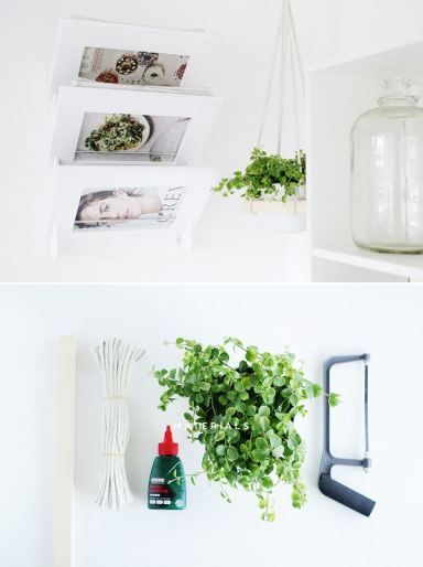 Fall For DIY Square Hanging Planter. A way to get green decor into any space in your house!