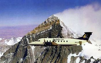 Thin Air Adventure  offers Everest Express daily flights to the mountain for one hour by various domestic airlines. Mountain flight with Buddha Air, Yeti Airlines and Simrik Airlines from from Kathmandu airport early in the morning for scenic Everest towards the Himalayas is awasome. The spectracular views of the world's highest peak Mt. Everest and other several snow capped peaks