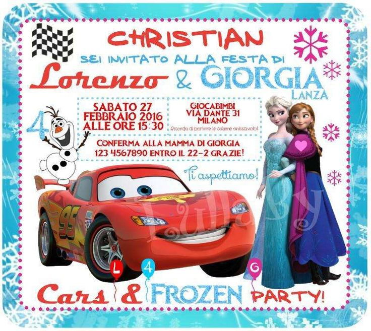Frozen and Cars combined birthday party! | CatchMyParty.com