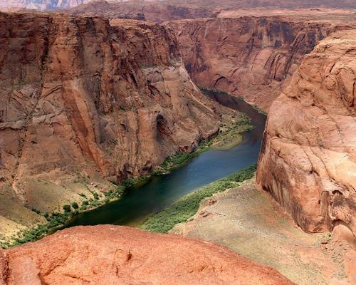 Colorado River  The Colorado River (seen here from Page, Ariz.)  I lived here when I was 13.  So beautiful.......