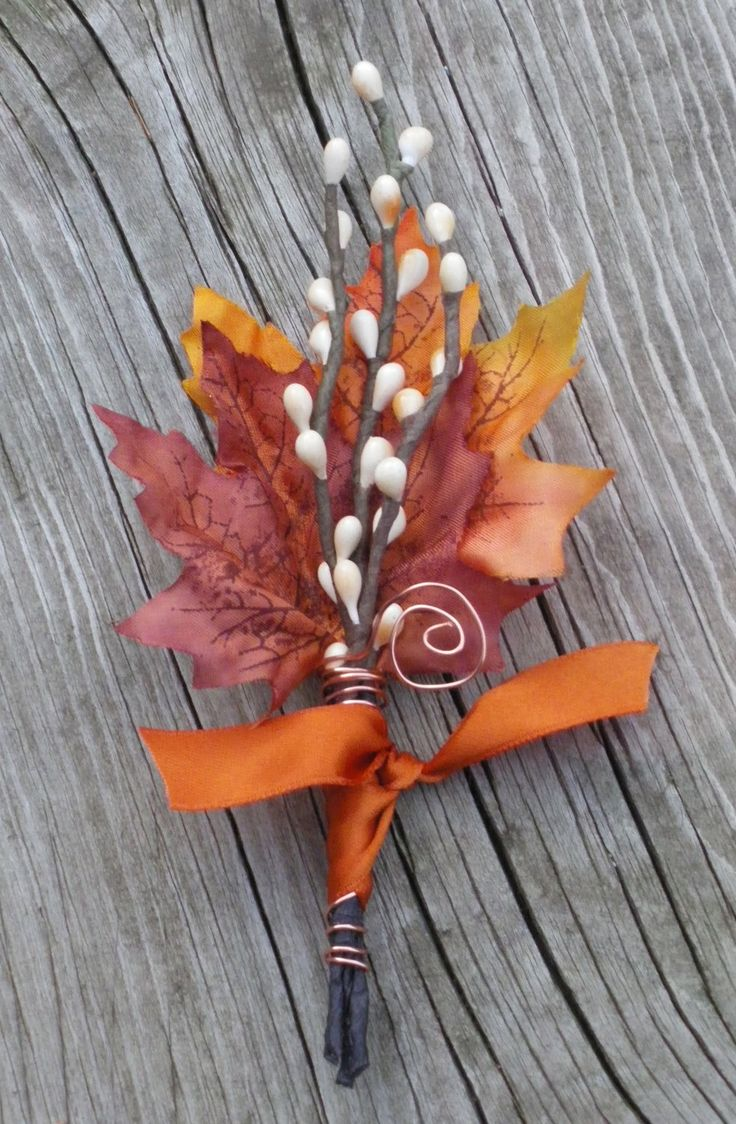 MENS Fall Wedding Boutonniere  Maple & Twigs by TellableDesign, $12.00