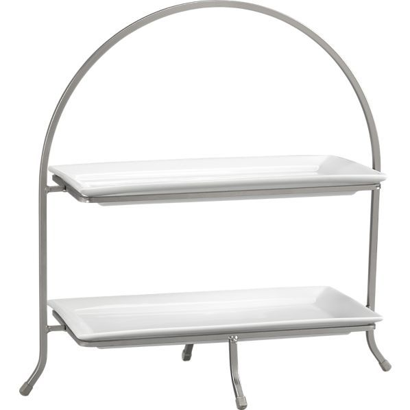 Cambridge 2 Tier Server - I'd like this in the guest bathroom to store lotions and mini shamps/conditioners.
