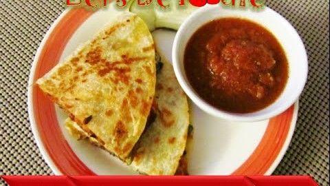 Fajita style quesadilla recipe/quesadilla recipe/ veg quesadilla/ dinner recipe let's be foodie