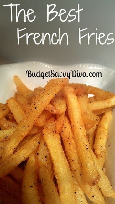 The BEST French Fries seasoning Recipe  1/2 Tsp of Garlic Salt (= 3 parts salt: 1part Garlic powder)  1/2 Tsp of Pepper  1/2 Tsp of Chili Powder  Pinch of Cayenne Powder  1/2 Tsp of Garlic Powder  1/2 - Click image to find more food & drink Pinterest pins