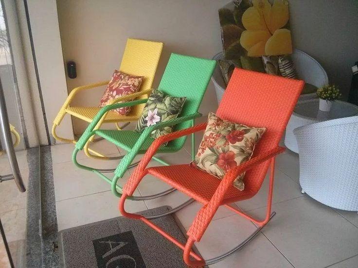 cadeira de balanço em fibra sintética. new design