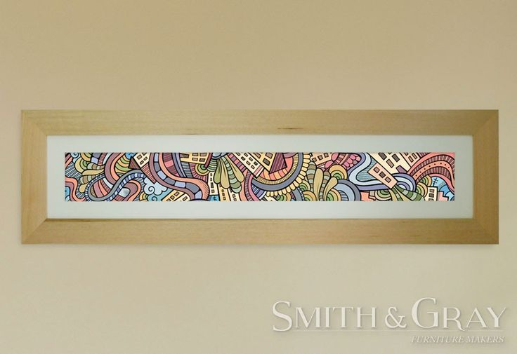 Custom made timber artwork frame by Smith and Gray Furniture Makers. Brisbane Australian Made Furniture.