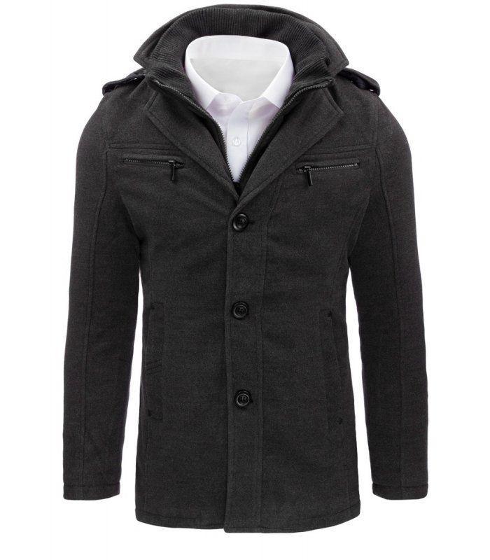 Pánsky antracitový plášť