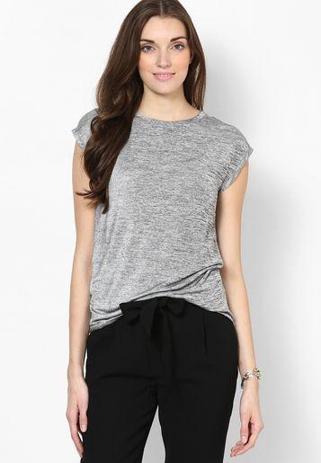 Mango-Grey T Shirt
