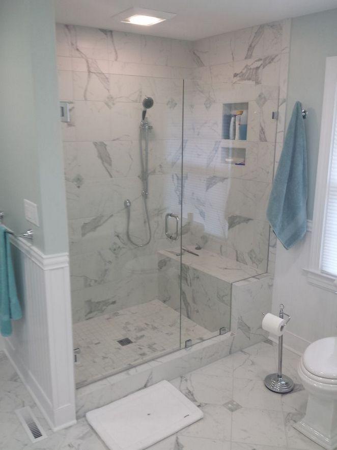 17 Master Bathroom Shower Ideas Walk In Tile Benches 4 Decorinspira Com Master Bathroom Shower Walk In Shower Shower Stall