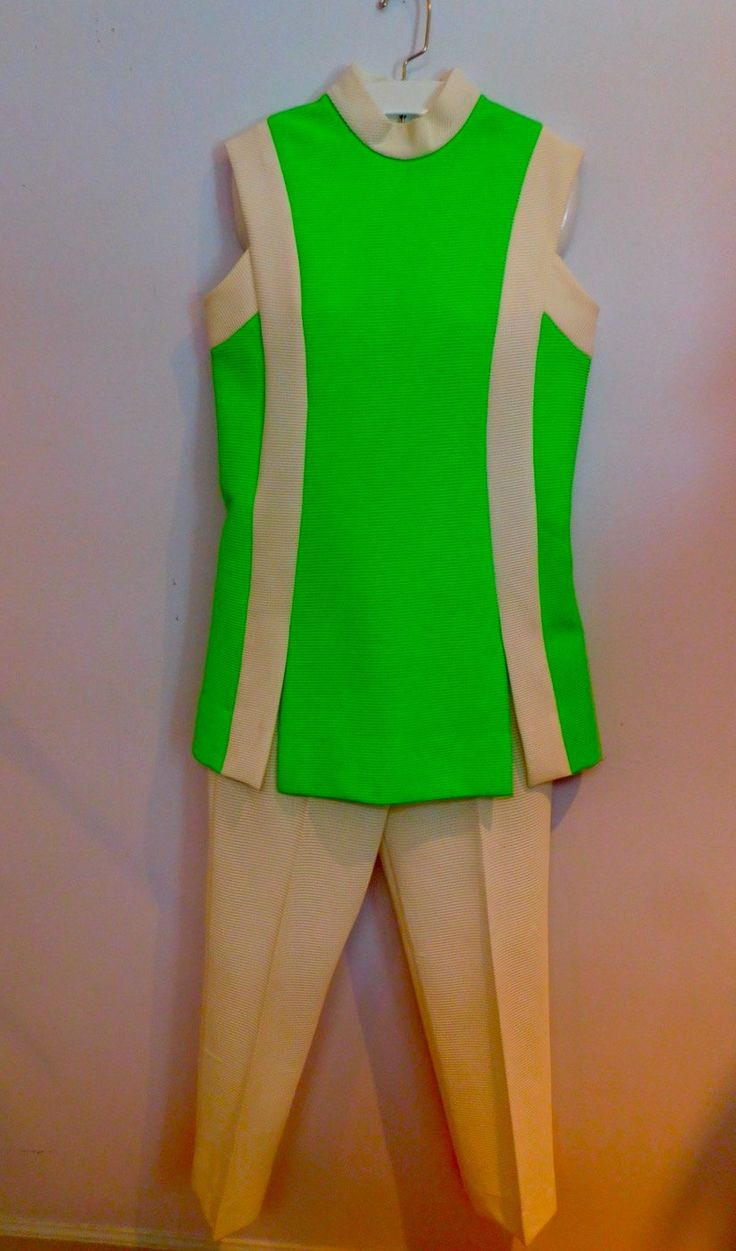 Tunic and Pants Summer Set David Crystal Fashions Lime Green Top White Pants by VintageToThrill on Etsy https://www.etsy.com/listing/274924890/tunic-and-pants-summer-set-david-crystal