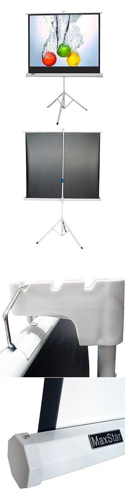 Projection Screens and Material: Maxstar 60X60 Portable Tripod Projector Screen 1:1 Video Formate Matte White BUY IT NOW ONLY: $69.95 #portableprojectorscreen #projectorscreen
