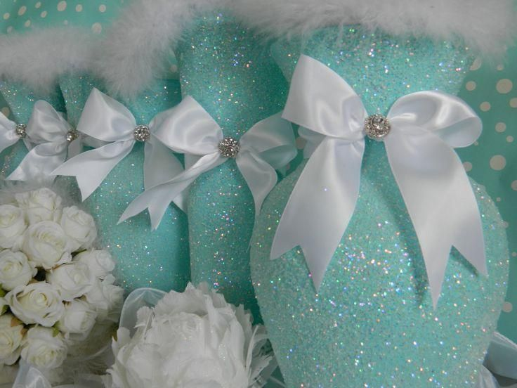 This stunning bouquet is custom made with the highest quality chandelle and goose feathers in snow white and tiffany blue. Description from pinterest.com. I searched for this on bing.com/images