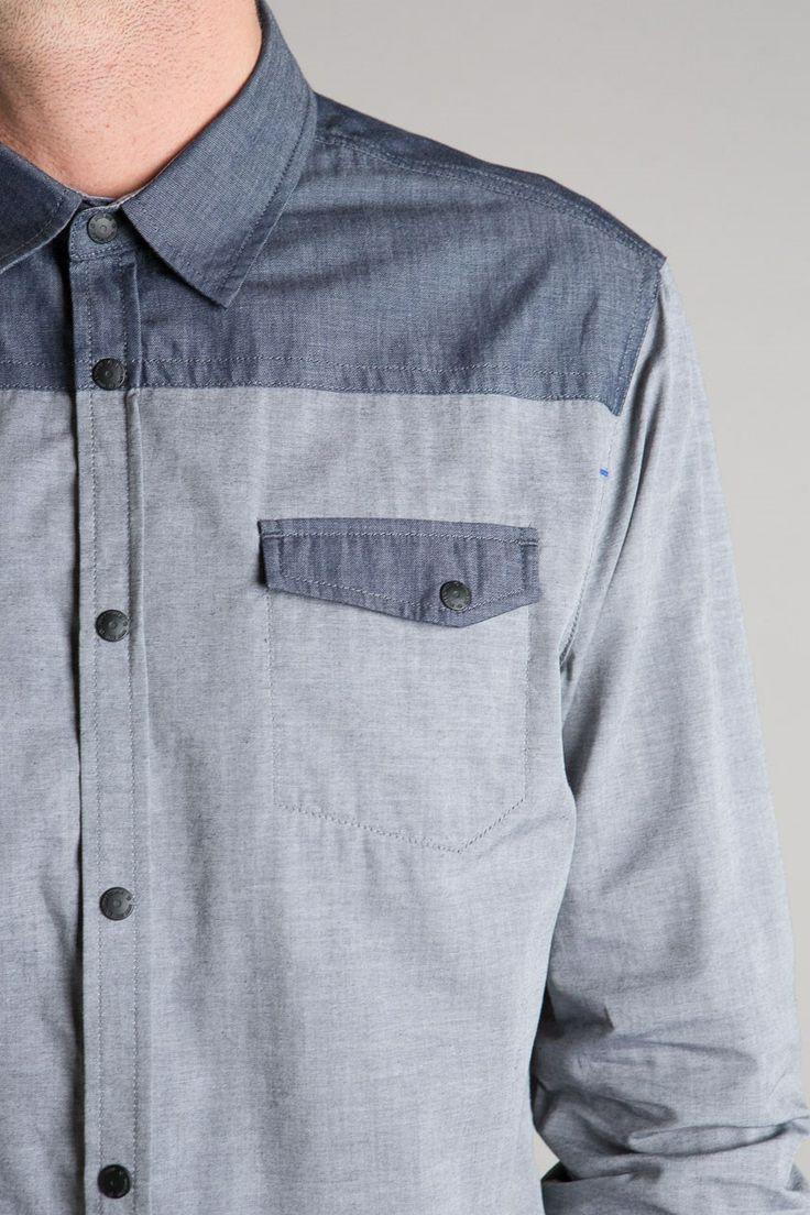 Chemise homme bimatière coton - Achat vente Chemise homme bimatière coton - Bonobo