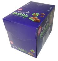 Cadbury Dairy Milk Bubbly with Mint Flavoured Bubbles, by Cadbury/Nestle,  and more Confectionery at The Professors Online Lolly Shop. (Image Number :9607)