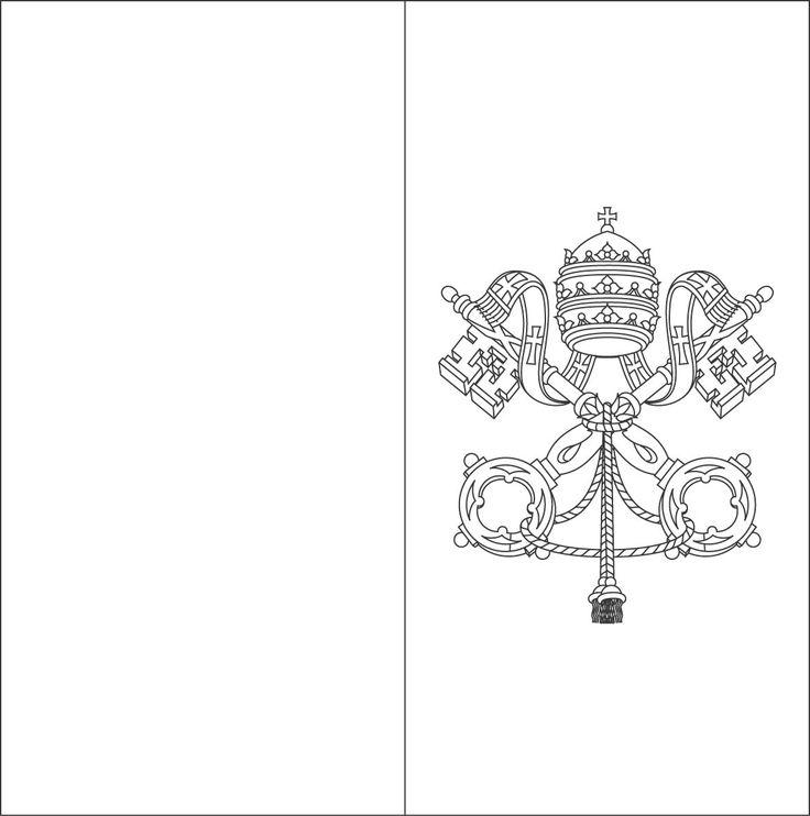 Vatican Flag Coloring Sheets