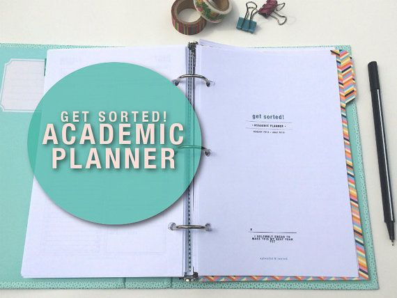a5 ACADEMIC PLANNER - Get Sorted! | 2014-2015 | full