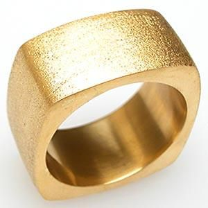 CUSTOM MENS SQUARE BAND RING HEAVY SOLID 22K GOLD