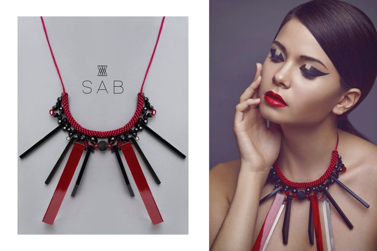 facebook.com/thesabstyle Instagram: s_a_b_official Handmade necklace, jewels, fashion, style, red, love, romantic, plexi, wild jewelry
