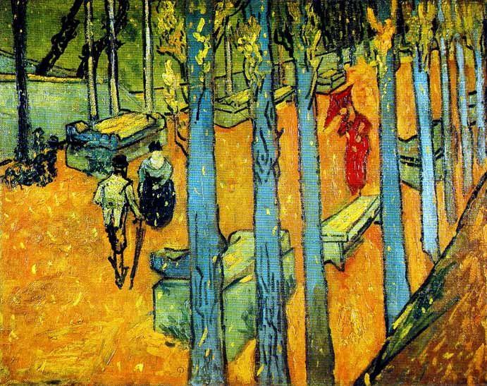 Vincent Van Gogh - Post Impressionism - Arles - Les Alyscamps, l'Automne.