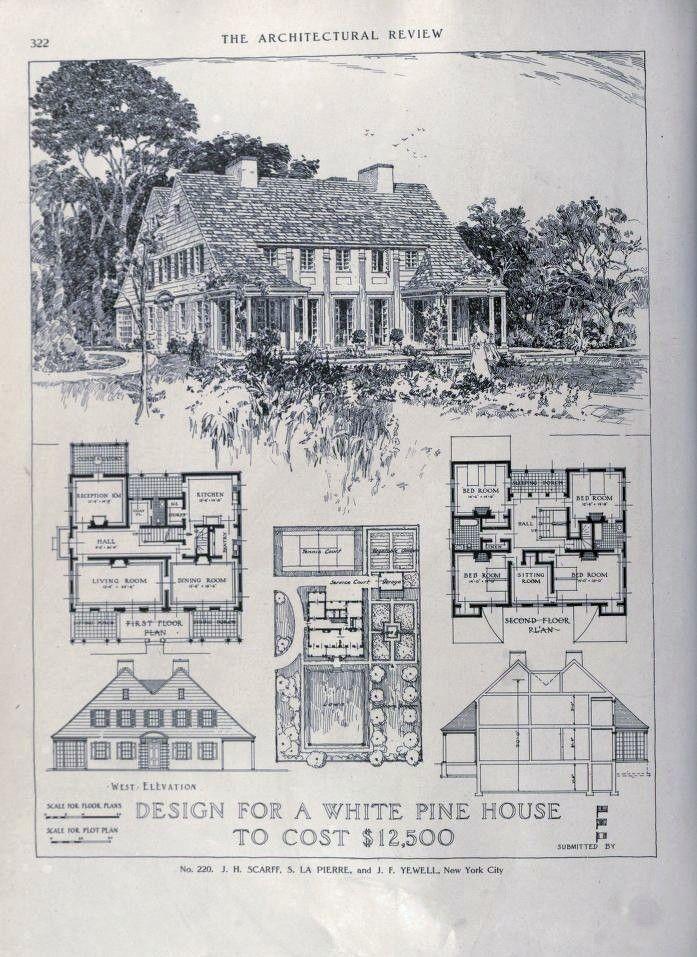 163 best plan books images on pinterest vintage house plans floor house plan malvernweather Gallery