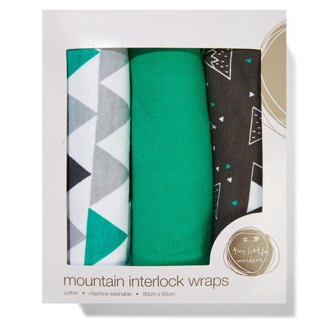 Interlock Wraps - Mountain Print | Kmart - $12