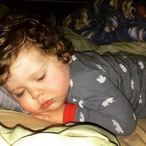 Spurgeon was wiped out last night after all the fun!😴😄 Hope everyone had an amazing Christmas!😊 | @seewaldfamily @ben_seewald @jessaseewald #SpurgeonSeewald #SeewaldFamily