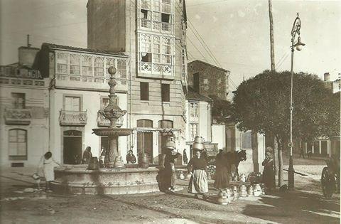 Fotografía antiga de Santigo de Compostela