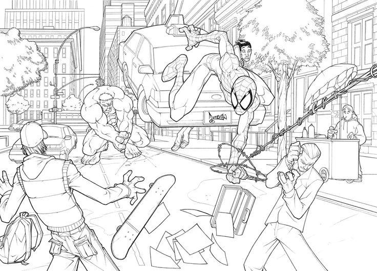 Spiderman vs Hulk 2 by CarlosGomezArtist on DeviantArt