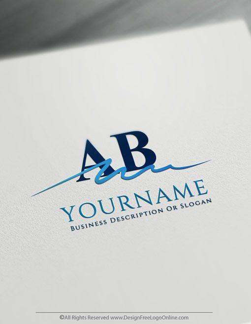 Free Signature Logo Maker - Simple Alphabet Logo design