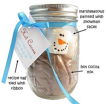 Snowman Wedding Favor Ideas-Snowman in a mason jar