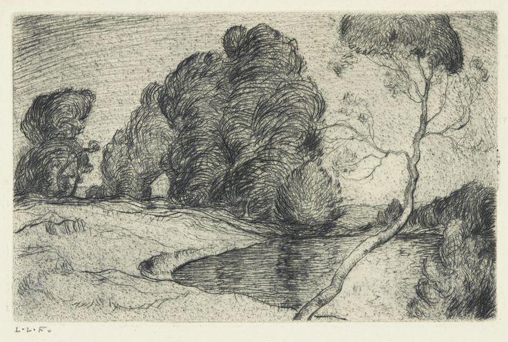 Lionel LeMoine FitzGerald (1890-1956) - Landscape, Moonllight