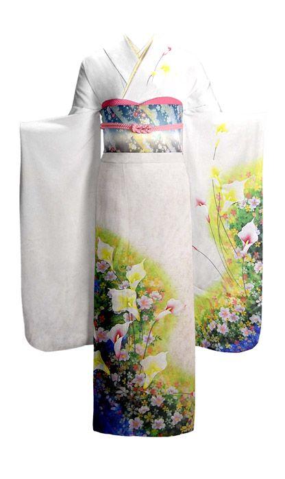 Mod 2: Calla lillies (Kayu sometimes Kara... - Kimono Nagoya