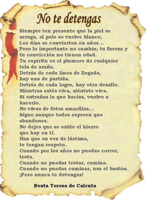 marisel@reflexiones.com: NO TE DETENGAS