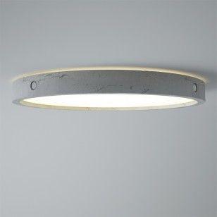 Plafondlamp Omega met beton-look is in verschillende maten te verkrijgen! - BLOQQ.nl. leuke simpele plafondlamp voor in de woonkamer