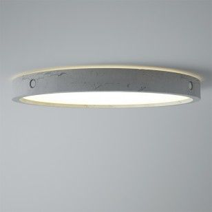 Plafondlamp Omega met beton-look is in verschillende maten te verkrijgen! - BLOQQ.nl