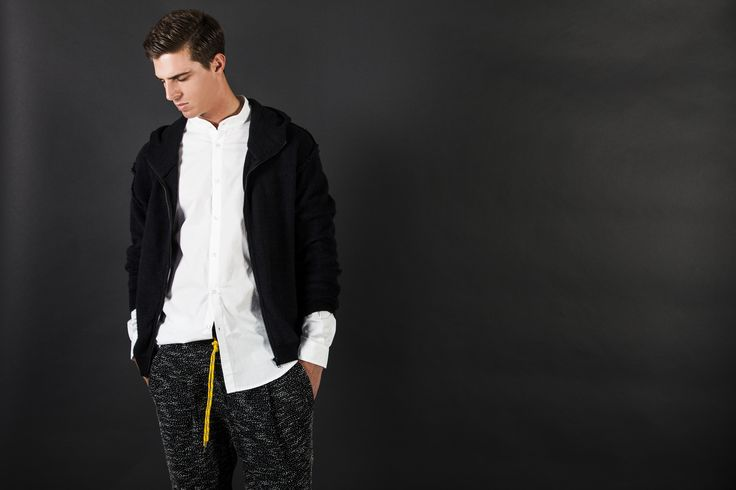 Hood zip Brushed Knitting Gap behind Shirt Pant Soul Pepper mod. JEFFERSON