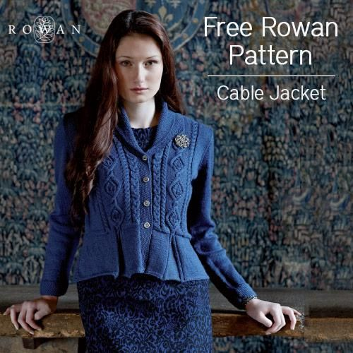 Rowan Baby Cardigan Knitting Pattern : free pattern Rowan lady cable cardigan, jacket, peplum pleats Lady knits ...