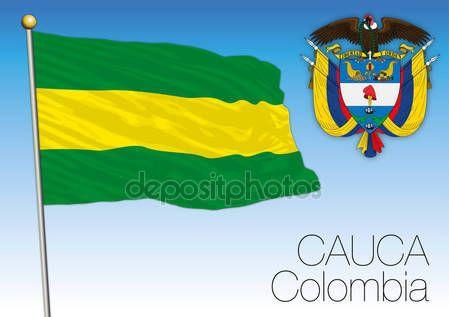 Bandiera regionale di Cauca, Colombia — Vettoriali  Stock © frizio #140286440
