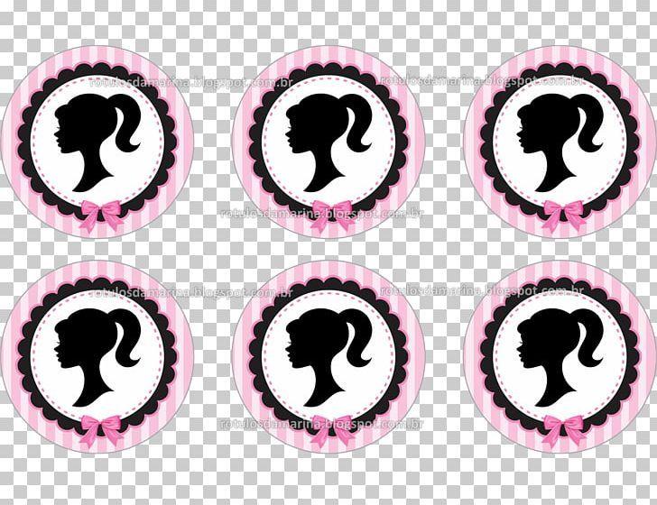 Barbie Label Cup Black Pink Png Clipart Adhesive Art Barbie Logo Barbie Pink