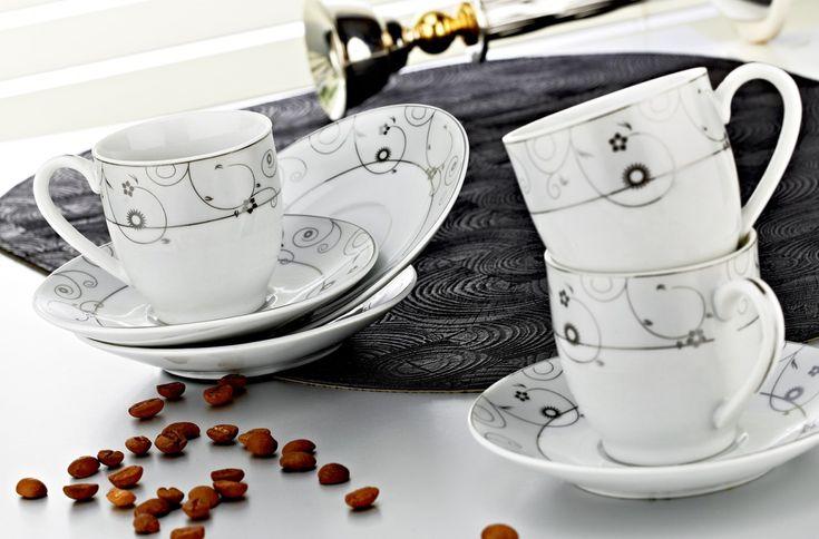 Zerden 12 Parça Porselen Kahve Fincan Takımı 839