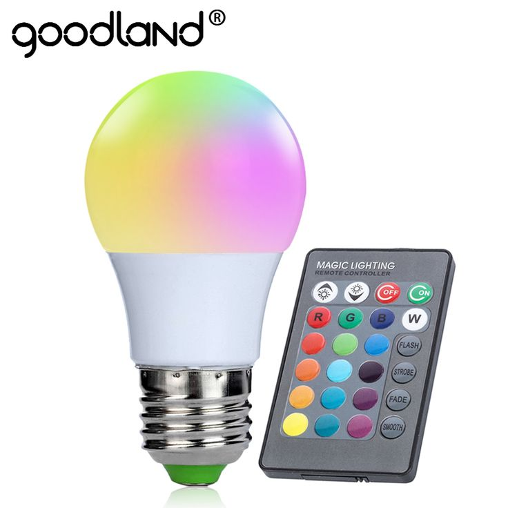 Goodland 3 w e27 rgb led bulb daya tinggi rgb dipimpin cahaya lampu 220 V 110 V Lampada LED 16 Warna 24 kunci IR Remote Control Untuk natal