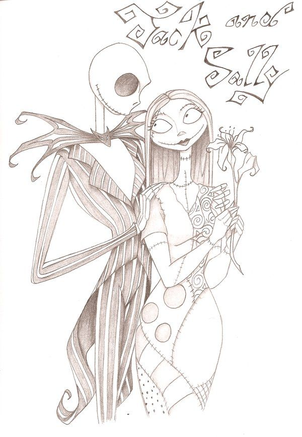 Jack and sally coloring pages jack and sally by anyae for Jack and sally coloring pages
