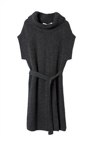 Wool Rollneck Dress