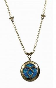 The Mortal Instruments - City Of Bones - Blue stone Necklace as worn by Cassie at Comic Con 2013 #SDCC2013 #ComicCon #TMIMovie (Cloud 21 PR Gifting Suite, Product Placement)