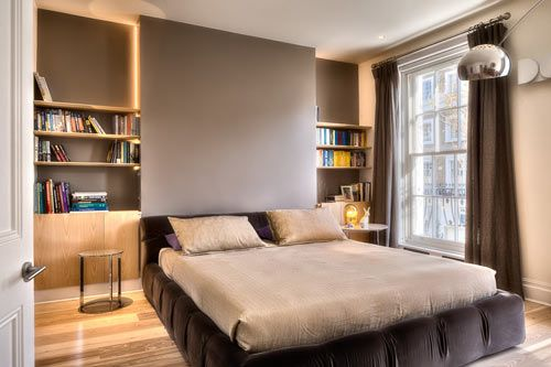 Love the backlighting in this bedroom. Design by elips design